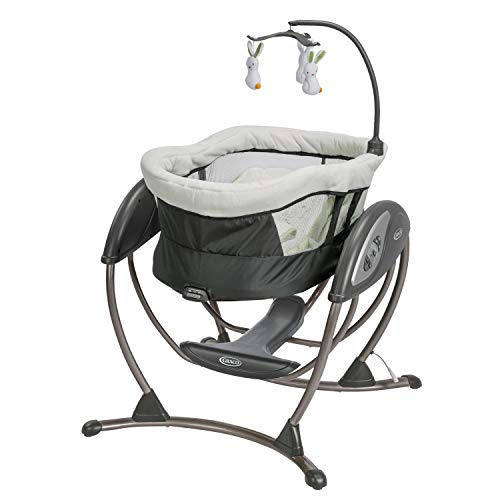 Graco 1924836 Dreamglider Baby Infant Nusery Gliding Rocking Swing with Sounds and Vibrations, Rascal