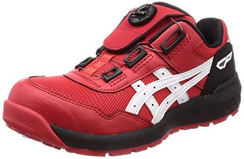 [アシックス] ワーキング 安全靴/作業靴 ウィンジョブ CP209 BOA JSAA A種先芯 耐滑ソール fuzeGEL搭載 クラシックレッド/ホワイト 26.5