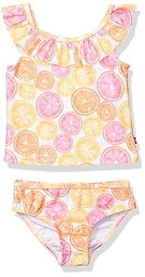 Nautica Girls Tankini Swim Suit with 50+ Sun Protection, Citrus Orange Pop, 6