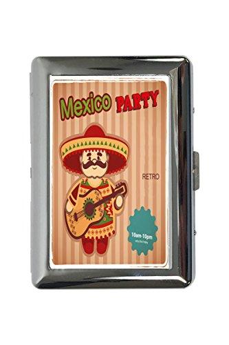 portasigarette in Metallo Vacanza Agenzia Viaggi Partito di Messico Stampato