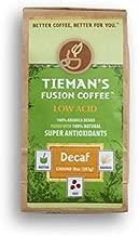 Tieman's Fusion Coffee, Low Acid Decaf, Ground, 10 ounce bag