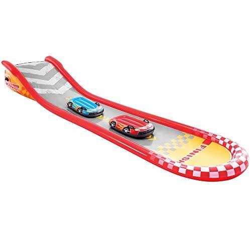Intex 57167NP - Tobogán agua deslizante, INTEX, 561x119x76 cm, 2 tablas de surf, pulverizador de agua, Juegos de agua para niño, Pista deslizante exterior, A partir de 6 años