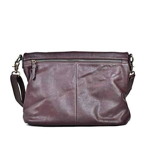 Crossbody bag Men's Casual Shoulder Genuine Leather Men Cross Section Messenger Business Crossbody Flod Cover 2-inch Laptop Bags