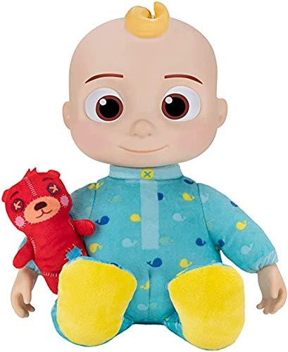 GEYUAN JJ Plüschspielzeug, Musik, die JJ-Puppe mit weicher Plüschbauch und Roto-Kopf, passend für Jungen und Mädchen, weiche gefüllte Kindergeburtstags-Geschenke geeignet, geeignet,Baby
