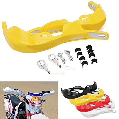 MOVKZACV 1 par de protectores de mano universales para manillar de motocicleta, motocross, Dirt Bike (amarillo)