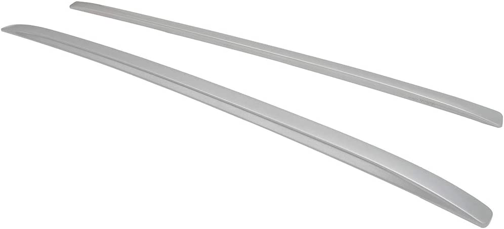GDSMOTU Now Direct sale of manufacturer on sale 2Pcs Roof Racks Silver Side Rails for Compatible 165LBS