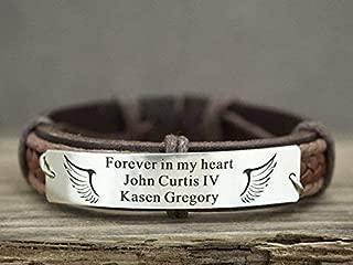 leather memorial bracelets