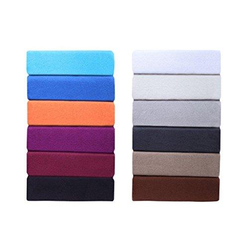 Farbenfrohes Thermo Fleece Winter Spannbettlaken, Spannbetttuch, Bettlaken in vielen Größen und Farben (140 x 200 cm - 160 x 200 cm, Lila/Pflaume)