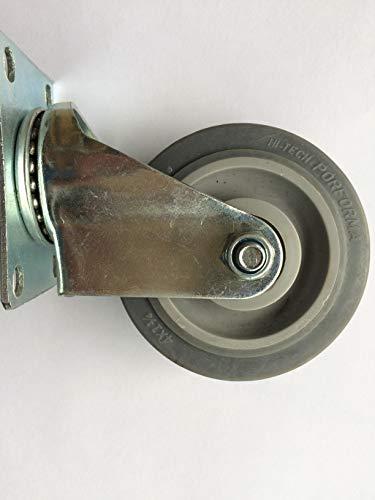 2Wheels4Fun 4 Zoll Ersatzrad mit Aufhängung für HOVERSEAT/HOVERKART - Hartgummi 10 cm Durchmesser