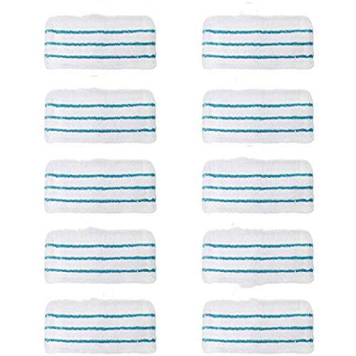 Tampons de Nettoyage de Rechange pour Balai Vapeur Lingettes Microfibres Rectangulaires pour Black+Decker Balais Vapeur - Alternative à FSMP20,FSM1630,FSM1321,FSM1300, FSMH13151SM etc (10 pièces)