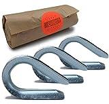CHILO Guardacabos para cables de alambre, muy fuertes, inoxidables, [3 mm 5 mm] Ojal para cable de alambre/cable de acero/cable de acero galvanizado (5 y 10 unidades, 3 mm, 5 unidades)