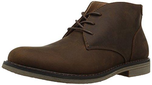 Nunn Bush Men's Lancaster Plain Toe Chukka Boot, BROWN, 11 Wide