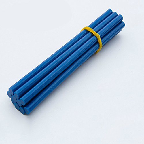 LaDicha 10 Pz 7Mm Hot Melt Rod Gel di Silice Vetro Fuso Adesivo Colla Stick - Blu