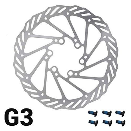 barsku 160mm 180mm 203mm Bremsscheibe mit 6 Schrauben Edelstahl Fahrrad Rotoren Fit für Rennrad, Mountainbike, MTB, BMX