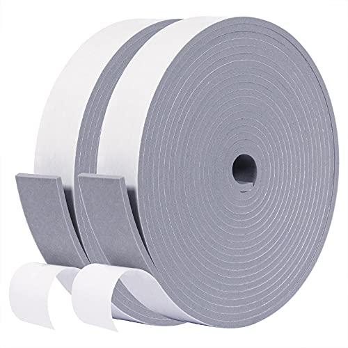 fowong Gray Foam Strip- 2 Rolls, 1' W X 1/8' T X 32' L,...