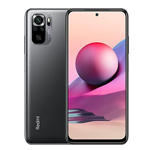Xiaomi Redmi Note 10S Smartphone 6GB 64GB Teléfono,con NFC,MediaTek Helio G95 Procesador,6.43' AMOLED DotDisplay,(64MP+8MP+2MP+2MP) Quad Camera,Dual SIM Card,AI Face Unlock Versión Global(Gris)