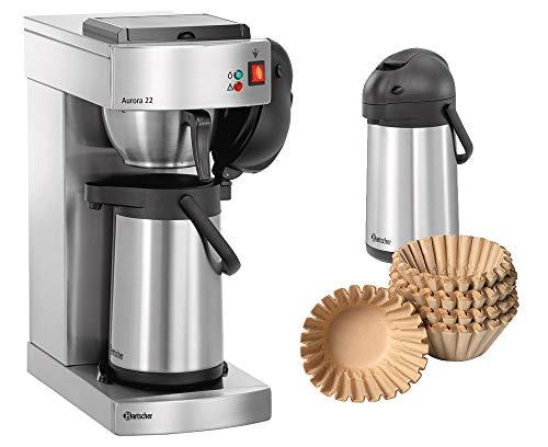 Kaffeemaschine Aurora 22 + 500 Korbfilter + 2. Pumpkanne