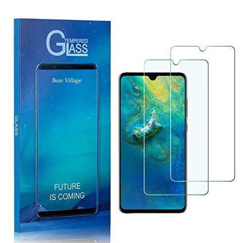 Bear Village® Displayschutzfolie für Huawei Mate 20X, Anti Fingerabdruck, Keine Luftblasen, Ultra klar Hart Schutzfilm aus Gehärtetem Glas für Huawei Mate 20X, 2 Stück