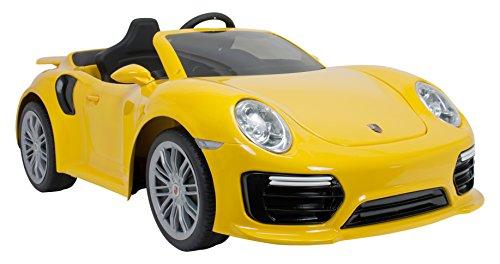 INJUSA - Coche Porsche 911 Turbo S con Control Remoto a batería 6V para niños +3 años con Luces y conexión MP3 (7182)