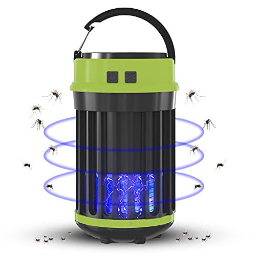 Insektenvernichter, Elektrischer Insektenvernichter Camping UV LED Mückenvernichter Insektenfalle Mückenlampe Mückenschut für Innen und Außeneinsatz Angeln, Wandern (Metall)