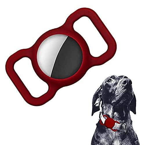 TeeFly Funda Protectora Compatible de Funda de protección de Silicona con el Collar para Mascotas Airtag, Soporte de Silicona para Collar de Perro y Gato