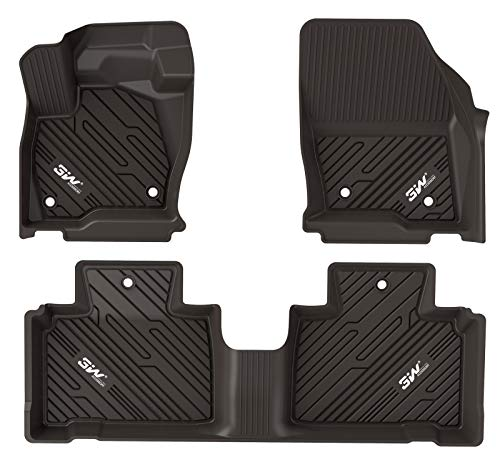3WFloorMatsCompatible for Ford Explorer 2020 2021TPEAllWeatherCustomFitFloorLinerfor Ford Explorer 1stand2ndRowFullSet CarLiners NOT Including 3rd Row Black