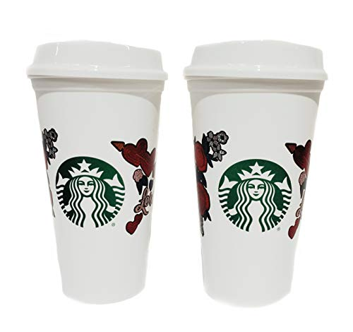 STARBUCKS Love Heart Rose Reusable Cups Valentine's Day 2019 Grande...