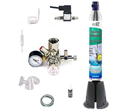 Hiwi CO2 Anlage 425 Profi mit Wassersprudler-Flasche (kompatibel zu vielen Wassersprudelzylindern.) und Nachtabschaltung 1 Flasche