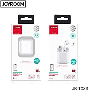 JOYROOOM JR-T03S new version Wireless Bluetooth Headphones TWS Bluetooth 5.0 Touch Control POP UP Window Wireless Earbuds with Wireless Charging Box (white)