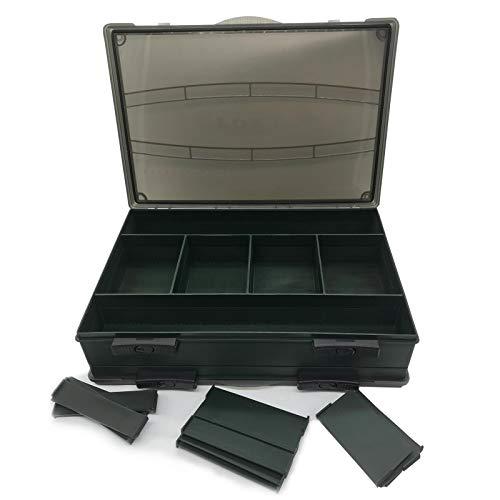 Angelbox f/ür Kleinteile Fox F Box Deluxe Medium Single Box Tacklebox System Angelkoffer f/ür Zubeh/ör
