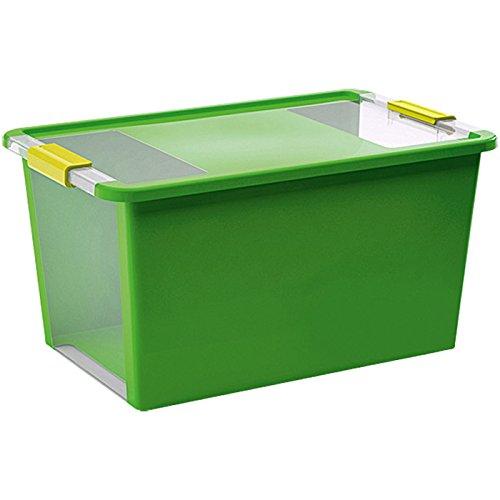 KIS Aufbewahrungsbox Bi Box 40 Liter in grün-transparent, Plastik, 55x35x28 cm