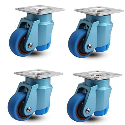 4x 40mm NYLON ROTELLE Casters-girevole /& frenata-Non-Marking RUOTE-MAX 100KG