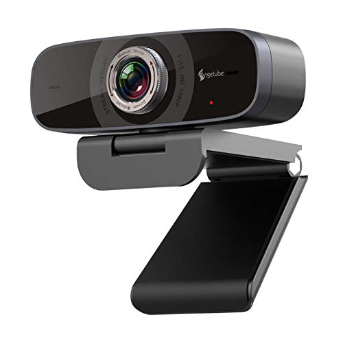 1080P Webcam with Microphone,Angetube Streaming HD Web Camera 100° Wide-Angle View Web Cam Compatible with Windows Android Ios Linux for Skype Facebook Xbox one Google Meet for Desktop Computer PC Mac