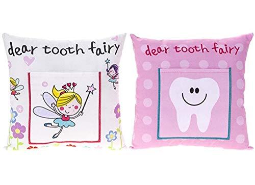 Zuckersüßes Zahnfee Kissen für Mädchen (Weiß mit Fee))