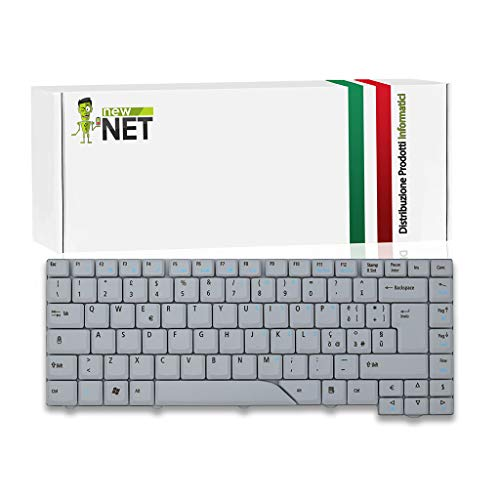 New Net Keyboards – Teclado italiano compatible con Notebook Acer Aspire 5910 5910G 5920 5920G 5930 5930G 5930Z 6920 6920G 6935 6935G gris