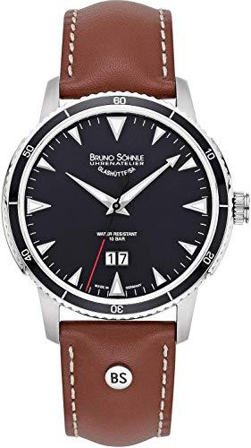 Bruno Soehnle Reloj Analógico para Hombre de Cuarzo con Correa en Cuero 17-13207-741