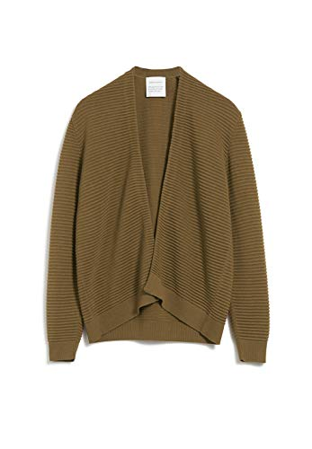 ARMEDANGELS Damen VEAA - VEAA - M Golden Khaki 67% Lyocell (Tencel™), 33% Baumwolle (Bio) Strick Cardigan