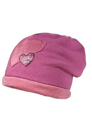 maximo baby-meisjes beanie uit Jersey met hartmotief muts, violet (paars 17), (maat fabrikant: 49)