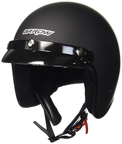 ARMOR Helmets AV-47 Jet-Helm Motorrad, DOT Schnellverschluss Tasche, L (59-60cm), Schwarz/Schwarz Matt