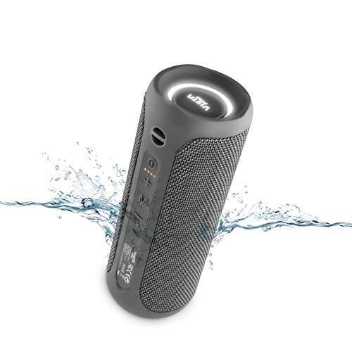 Altavoz Goody 2 de Vieta Pro, con Bluetooth 5.0, Wireless, Micrófono, Radio FM, 12 Horas de batería, Resistencia al Agua IPX7, Entrada Auxiliar y botón Directo al Asistente Virtual; Color Gris Plomo
