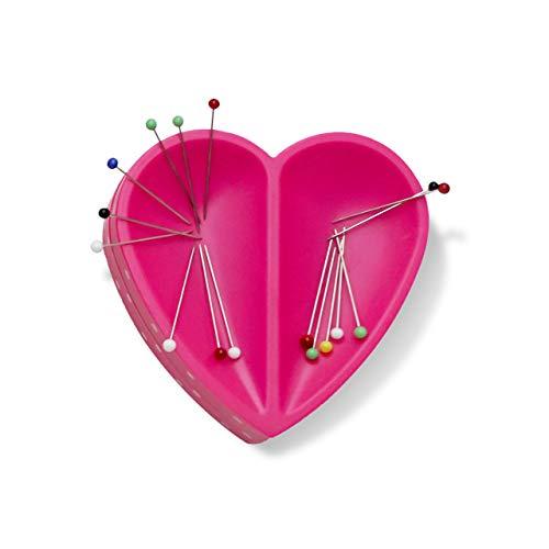 Prym 610284 Love Herz Magnetnadelkissen, Kunststoff, pink, one size