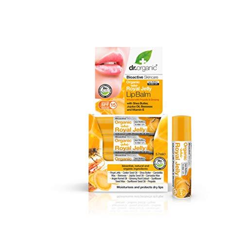 Dr. Organic Baume pour les Lèvres Gelée Royale Bio SPF15 5,7 ml