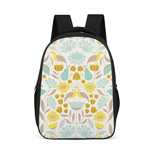 Plant, green, flower, grass, trees, bird Toddler's Backpacks Classic Perfect Size for Adult green grey onesize