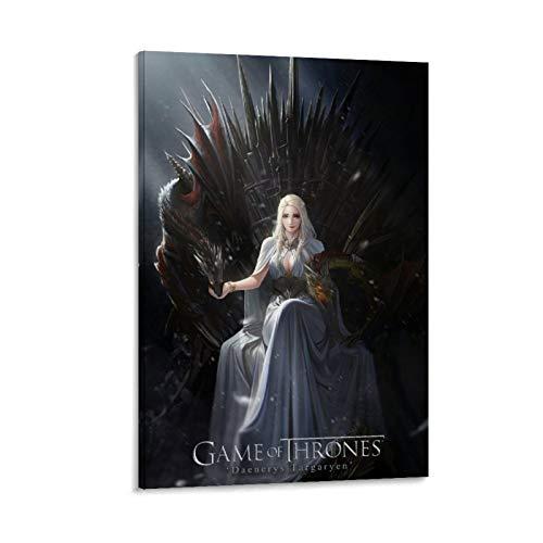 SSKJTC - Quadro da parete per soggiorno, Game of Thrones, Daenerys Targaryen seduto sul trono, decorazione da parete, 40 x 60 cm