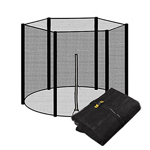 EYLIFE Filet Trampoline 6/8 Barres pour Trempoline Extérieur, Filet pour Trampoline Protection, Filet de Sécurité, Accessoire Trampoline, Différentes Tailles, Noir,Ø 305cm 6 Barres