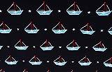 Qualitativ hochwertiger Jersey Stoff, Maritime kleine Boote