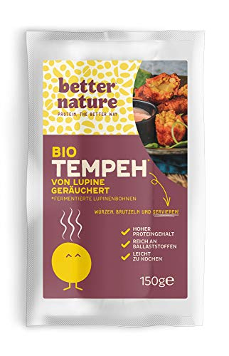 Better Nature - Bio-Lupinentempeh Geräuchert 150g (5er-Pack) Vegane Fleischalternative