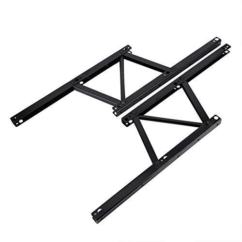 2 piezas de metal de mesa centro elevable hierro plegable para mesa de café o mesa de café con mecanismo de escritorio con bisagras de montaje y muelle, accesorios de escritorio para el hogar