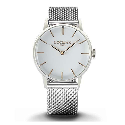 Locman - Reloj de hombre 1960 de acero blanco