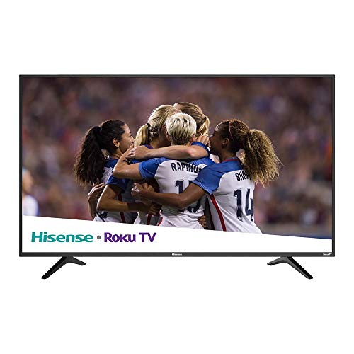 Hisense TV 58' LED 4K con sistema ROKU Smart TV 58R6E Reacondicionada